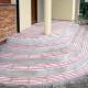 Instalacja przeciwoblodzeniowa schodów - w trakcie montażu
